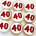 капкейки на день рождения с цифрами